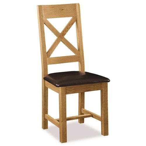 Stockton Cross back chair with pu seat
